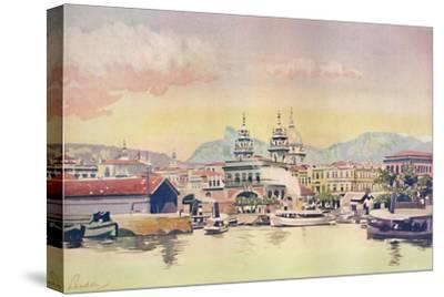 'A Corner of the Rio Customs Wharf', 1914-Unknown-Stretched Canvas Print
