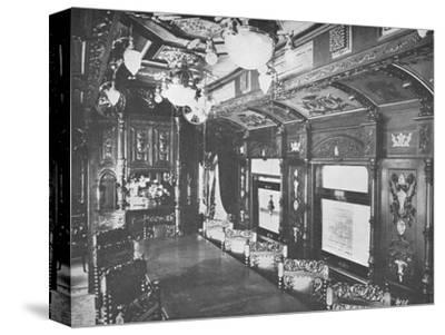 'Vestibule Dining Car on the Rio-Sao Paulo Night Express of the Central Railway of Brazil', 1914-Unknown-Stretched Canvas Print
