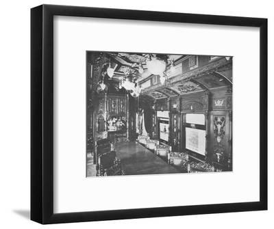 'Vestibule Dining Car on the Rio-Sao Paulo Night Express of the Central Railway of Brazil', 1914-Unknown-Framed Photographic Print