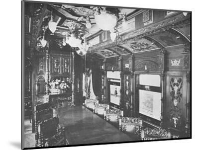 'Vestibule Dining Car on the Rio-Sao Paulo Night Express of the Central Railway of Brazil', 1914-Unknown-Mounted Photographic Print