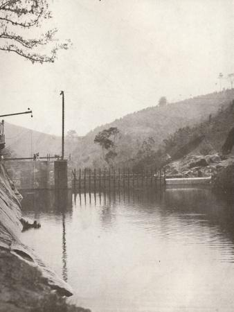 'Pirahy Diversion (Dam from up stream) of the Rio Light and Power Works', 1914-Unknown-Framed Photographic Print