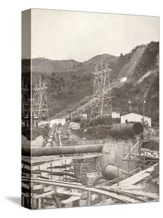 'The Pipes at Riberao das Lages: Rio Light and Power Works', 1914-Unknown-Stretched Canvas Print