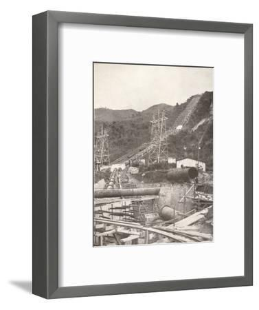 'The Pipes at Riberao das Lages: Rio Light and Power Works', 1914-Unknown-Framed Photographic Print