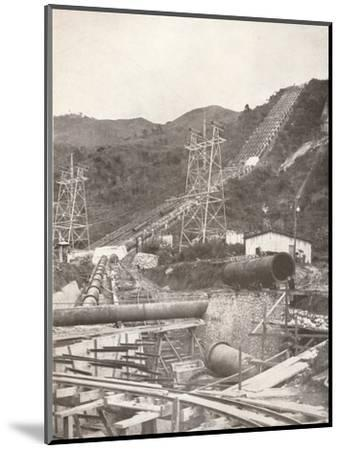 'The Pipes at Riberao das Lages: Rio Light and Power Works', 1914-Unknown-Mounted Photographic Print