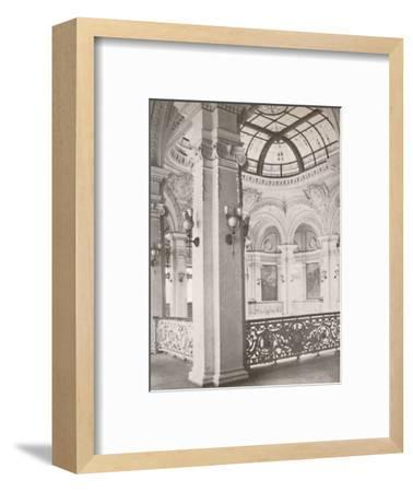 'National Library: a corner of the gallery overlooking the public reading hall', 1914-Unknown-Framed Photographic Print