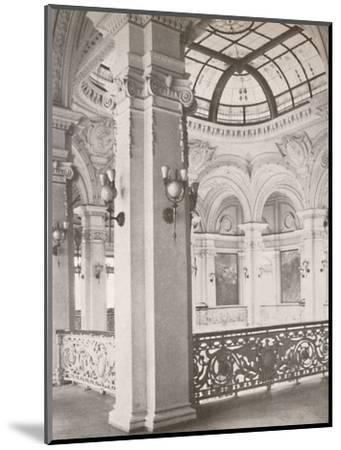 'National Library: a corner of the gallery overlooking the public reading hall', 1914-Unknown-Mounted Photographic Print