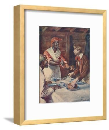 Now for the cake, said Mas'r George', 1929-Unknown-Framed Giclee Print