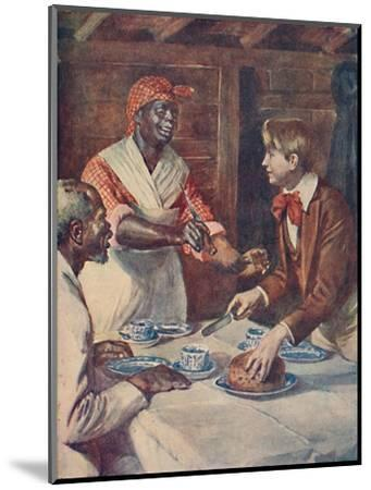 Now for the cake, said Mas'r George', 1929-Unknown-Mounted Giclee Print