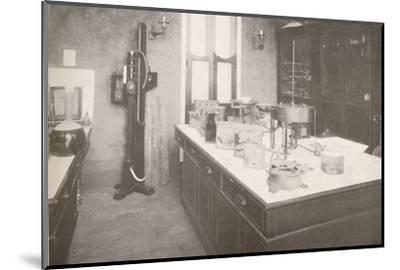 'Examination Laboratory of the Medico-Legal Service', 1914-Unknown-Mounted Photographic Print