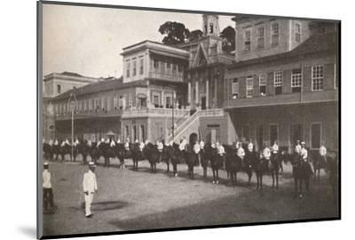 'At the Military Police Head-quarters', 1914-Unknown-Mounted Photographic Print