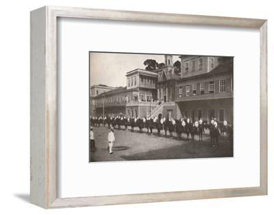 'At the Military Police Head-quarters', 1914-Unknown-Framed Photographic Print