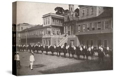 'At the Military Police Head-quarters', 1914-Unknown-Stretched Canvas Print