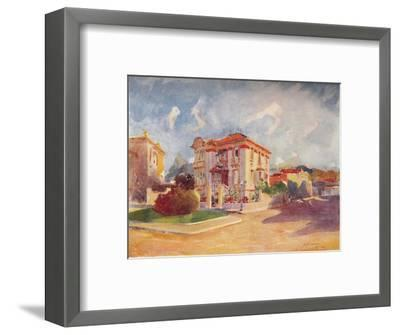'Residence of H.E. Dr. Pedro de Toledo, ex-Minister of Agriculture, Avenida Beira Mar', 1914-Unknown-Framed Giclee Print