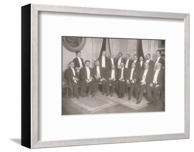 'Marshal Hermes da Fonseca with his Secretaries of State and Advisers', 1914-Unknown-Framed Photographic Print