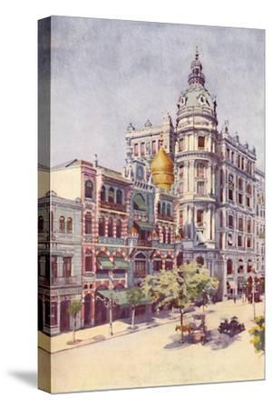 'Moorish Building and Messrs. Guinles Offices, Avenida Rio Branco', 1914-Unknown-Stretched Canvas Print