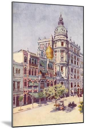 'Moorish Building and Messrs. Guinles Offices, Avenida Rio Branco', 1914-Unknown-Mounted Giclee Print