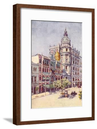 'Moorish Building and Messrs. Guinles Offices, Avenida Rio Branco', 1914-Unknown-Framed Giclee Print