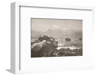'The peaceful bay of Rio', 1914-Unknown-Framed Photographic Print