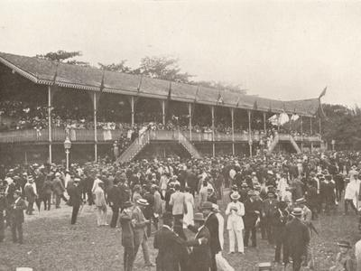 'A portion of the Derby Club Racecourse Enclosure', 1914-Unknown-Framed Photographic Print