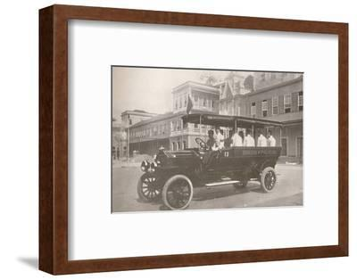 'An Automobile of the Military Police Force', 1914-Unknown-Framed Photographic Print