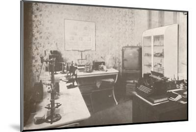 'Police Bacteriological Laboratory', 1914-Unknown-Mounted Photographic Print