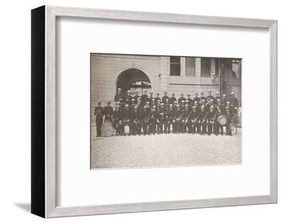 'The Band of the Rio Fire Brigade', 1914-Unknown-Framed Photographic Print