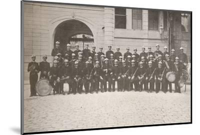 'The Band of the Rio Fire Brigade', 1914-Unknown-Mounted Photographic Print