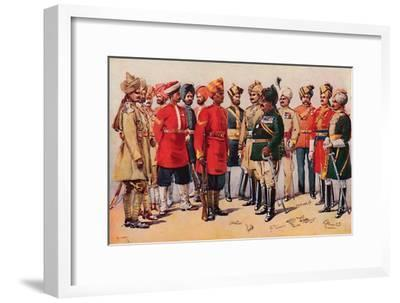 'A Group of Indian Soldiers', 1913-AC Lovett-Framed Giclee Print