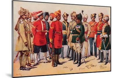 'A Group of Indian Soldiers', 1913-AC Lovett-Mounted Giclee Print