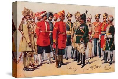'A Group of Indian Soldiers', 1913-AC Lovett-Stretched Canvas Print