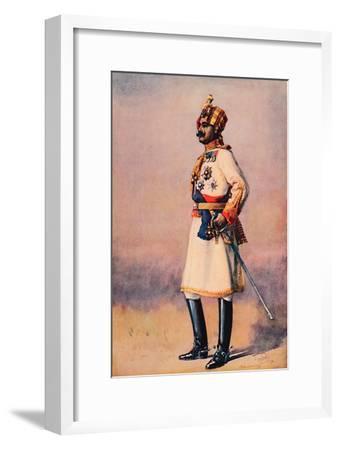 'An Indian Maharaja', 1913-AC Lovett-Framed Giclee Print
