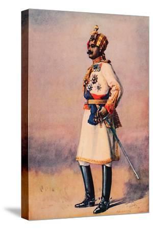 'An Indian Maharaja', 1913-AC Lovett-Stretched Canvas Print