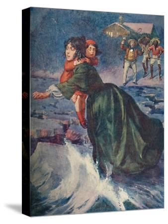 'The huge green fragment of ice pitched and creaked', 1929-Unknown-Stretched Canvas Print
