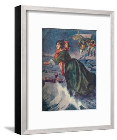 'The huge green fragment of ice pitched and creaked', 1929-Unknown-Framed Giclee Print
