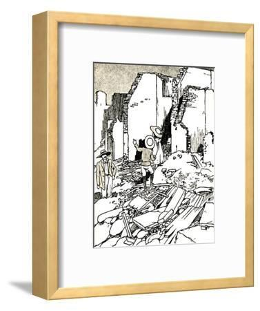 'After the Earthquake', 1907 (1912)-Charles Robinson-Framed Giclee Print