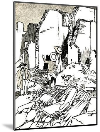'After the Earthquake', 1907 (1912)-Charles Robinson-Mounted Giclee Print