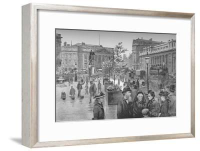 'The Mansion House and the Bank of England', 1891-William Luker-Framed Giclee Print