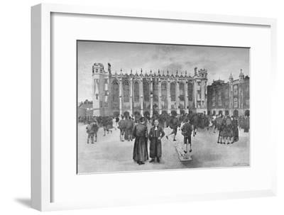 'Christ's Hospital, Newgate Street - Boys in playground', 1891-William Luker-Framed Giclee Print