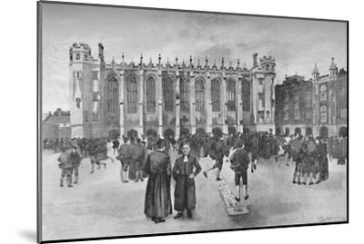 'Christ's Hospital, Newgate Street - Boys in playground', 1891-William Luker-Mounted Giclee Print