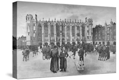 'Christ's Hospital, Newgate Street - Boys in playground', 1891-William Luker-Stretched Canvas Print