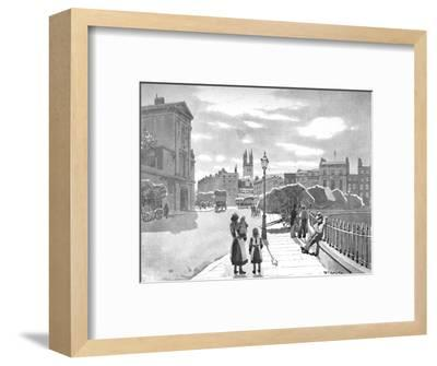 'Smithfield and St. Bartholomew's Hospital', 1891-William Luker-Framed Giclee Print