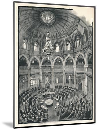 'The Guildhall - Council Chamber', 1891-William Luker-Mounted Giclee Print