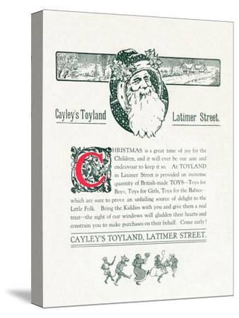 'Christmas Advert For Cayley's Toyland', 1917-Unknown-Stretched Canvas Print