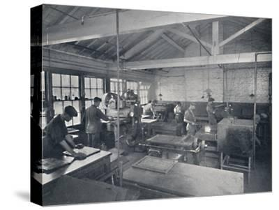 'At Work in the Foundry. Making Wax Moulds of the Pages', 1917-Unknown-Stretched Canvas Print