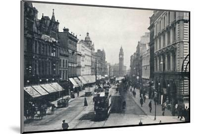 'High Street, Belfast, showing the Albert Memorial in the distance', 1917-Unknown-Mounted Photographic Print