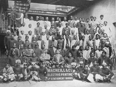 'Staff of Macneill & Co.'s Printing and Stationery Works, Calcutta', 1917-Unknown-Framed Giclee Print