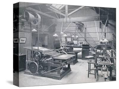 'St. Bride Foundation School. Letterpress Machine Room', 1917-Unknown-Stretched Canvas Print