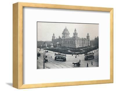 'City Hall, Belfast', 1917-Unknown-Framed Photographic Print