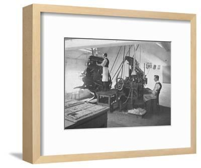 'The Linotypes', 1916-Unknown-Framed Photographic Print