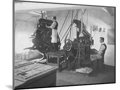 'The Linotypes', 1916-Unknown-Mounted Photographic Print